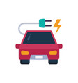 electric car icon recharge car ev car vector image