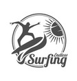 endless surfing summer surfing sports logo vector image vector image