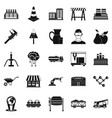 extraction icons set simple style vector image vector image