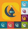 flat modern design with shadow icons mosque vector image vector image