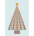 Flower colors Christmas tree vector image vector image