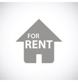 For rent black icon vector image vector image