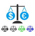 forex market scales flat icon vector image vector image