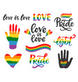 gay hand written lettering poster lgbt concept vector image vector image