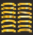 golden ribbons pack vector image vector image