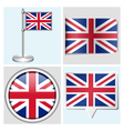 Great Britain flag - sticker button label vector image vector image