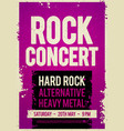 grunge rock festival design template vector image