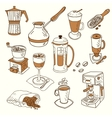 Hand drawn sketch doodle vintage simple coffee vector image
