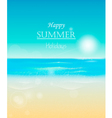 Happy summer holidays vector image
