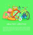 health life items concept cartoon style vector image