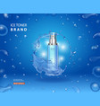 ice toner advetising cosmetic spray bottle vector image vector image
