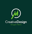letter m human friendship creative business logo vector image vector image