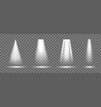 light from spotlight on stage bright beam vector image