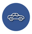 line icon of car with shadow eps 10 vector image vector image