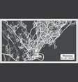 panama city map in retro style outline map vector image