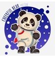 Panda astronaut funny character vector image