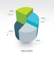 pyramid cube infographic top view 4 color vector image