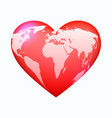 red world heart vector image vector image