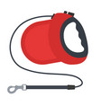 retractable dog leash isolated on white vector image vector image