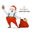 santa claus gives gifts for the holiday vector image vector image