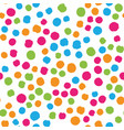 scattered colorful brush dots seamless background vector image vector image