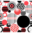 seamless graphic design from different circles vector image