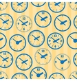 Seamless lock pattern vector image vector image