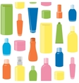 Seamless pattern with cosmetic bottles vector image vector image