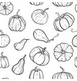 seamless pattern with hand drawn black and white vector image vector image