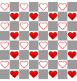 Seamless pattern with one big and many small red vector image vector image