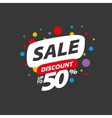 sign for discounts vector image vector image