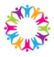 Sign friendship togetherness vector image