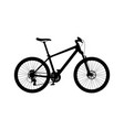 silhouette of hardtail mountain bike vector image vector image