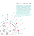 Social Media Circles Network Icon vector image vector image