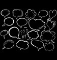 speech bubble hand-drawn painted speech bubbles vector image