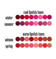 stock seasonal color analysis lipstick colo vector image vector image