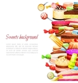 Sweet Food Background vector image vector image
