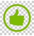 Thumb Up Rounded Icon vector image vector image