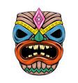 tiki island traditional mask with big vector image vector image
