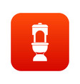toilet bowl icon digital red vector image vector image