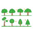 tree symbol icon element landscape web game vector image vector image
