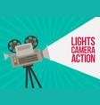 video camera flat design vector image vector image
