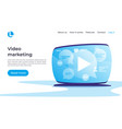 video marketing social media entertainment vector image