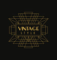 vintage style logo art deco design element vector image vector image