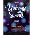 Welcome to summer signs on black background vector image vector image