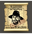 wild west style wanted poster vector image vector image