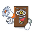 with megaphone speaker character cartoon style vector image