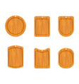 wooden cutting board icon vector image vector image