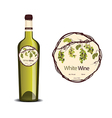 Label for white wine vector image