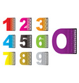 Learn by numbers vector image
